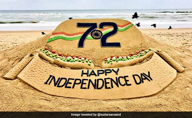 On Independence Day See Sudarsan Pattnaiks Beautiful Sand Tribute