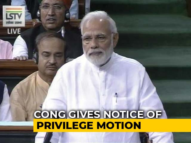 Video : Congress Seeks Parliament Action Against PM, Defence Minister On Rafale