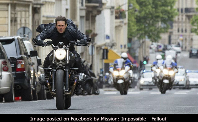 Tom Cruise has performed a motorbike stunt scene himself in MI6