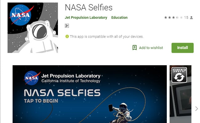 NASA offers new space travels and selfies