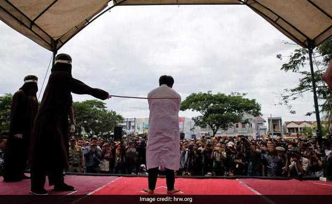 Gay Men, Adulterers Publicly Flogged In Indonesia