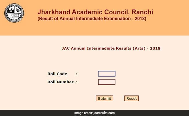 jac arts results website