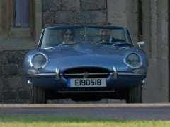 Royal Couple Takes Their First Drive In A Classic Jaguar With A Modern Electric Twist