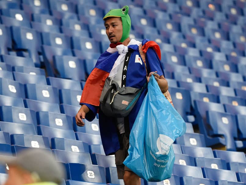 World Cup 2018: Japan Fans, Players Clean Stadium, Locker Rooms After Heart-Breaking Exit, Win Applause