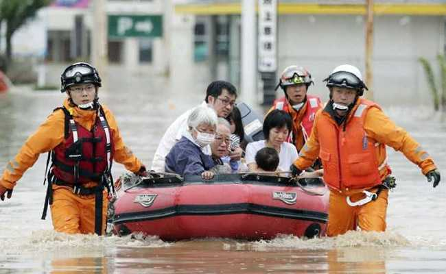 Japan floods: Heavy rain and floods cause huge damage