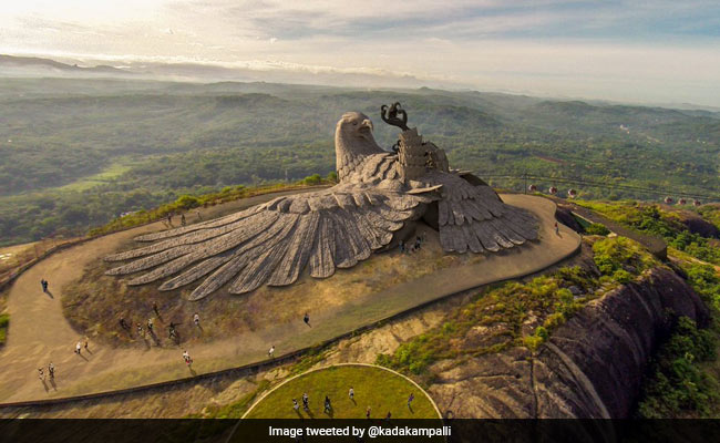 kerala to unveil world s largest bird sculpture jatayu