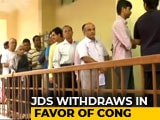 Video : A BJP-Congress Direct Contest In Karnataka's Jayanagar, After JDS Exit