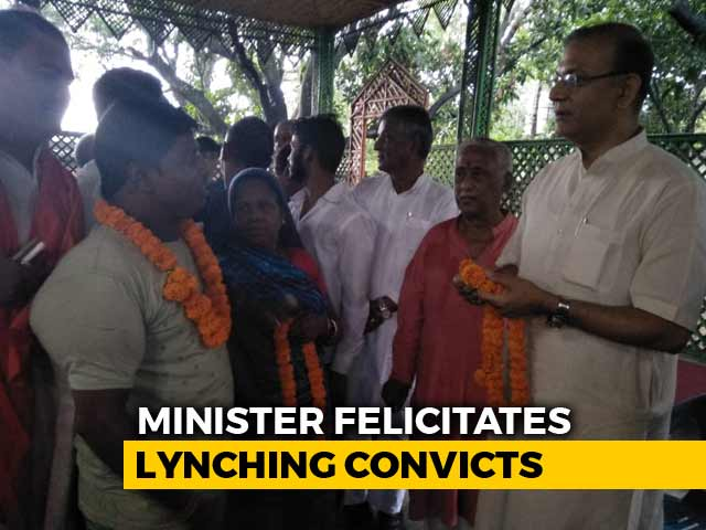 "Video : ""Honouring Law"": Jayant Sinha After Row Over Feting Lynching Convicts"