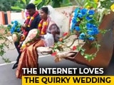 Video : Karnataka Couple's Wedding Procession Features Decked Up JCB Digger