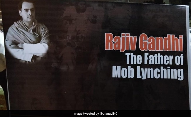 To Remind Of 1984, BJP Posters Say Rajiv Gandhi 'Father Of Mob Lynching'