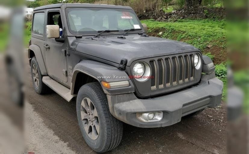 The new-gen Jeep Wrangler 3-Door is currently on-test by ARAI