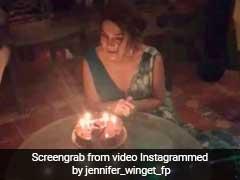 33 साल की हुईं जेनिफर विंगेट, केक का पहला पीस इसे खिलाकर चौंकाया