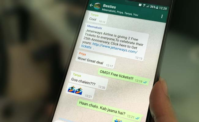 That Viral WhatsApp Message About Jet Airways Giving Free Tickets Is Fake