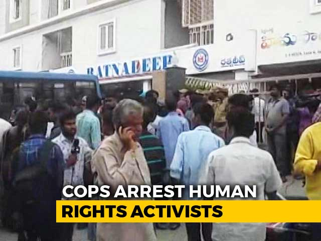 "Video : Activists Arrested In Multi-City Raids For ""Maoist Plot"""