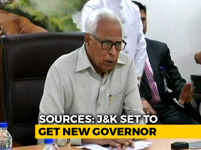 Video : New Jammu And Kashmir Governor Soon, Centre Upset With NN Vohra: Sources
