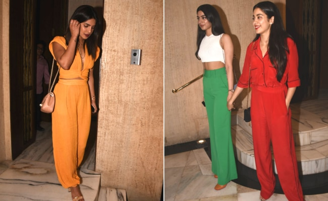 Priyanka Chopra To Janhvi Kapoor, The Most Stylish Celebs At Manish Malhotra's Party