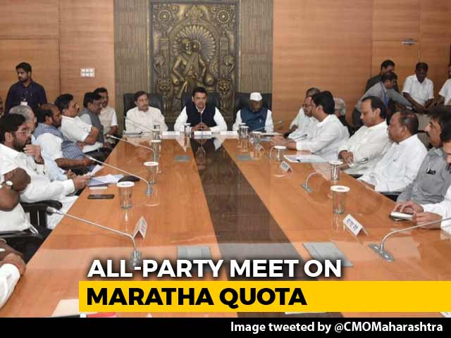 Video : At All-Party Meet, Leaders Set Roadmap To Find Solution For Maratha Quota