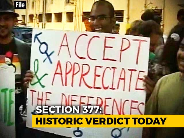 Video : Supreme Court Verdict On Section 377, Gay Rights Shortly