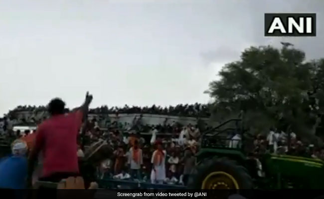On Camera, Giant Shed At Rajasthan Tractor Race Collapses, 17 Injured