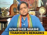 "Video : ""Why Should I Apologise?"": Shashi Tharoor On His ""Hindu Pakistan"" Comment"