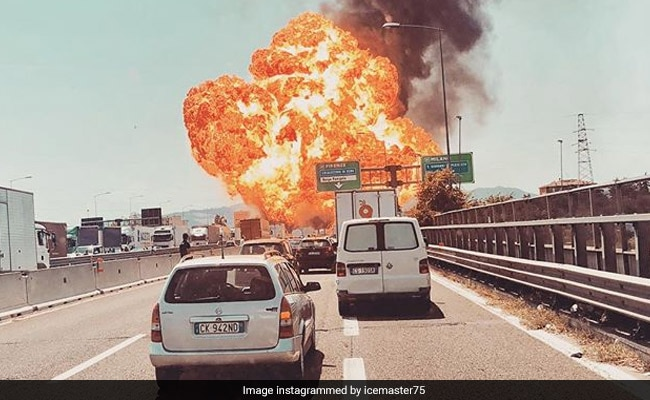 Caught on camera: massive explosions on highway leave 2 dead many injured