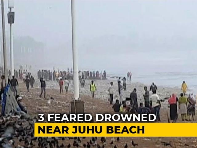 Video : Two Dead, Two Friends Missing Off Mumbai's Juhu Beach In High Tide