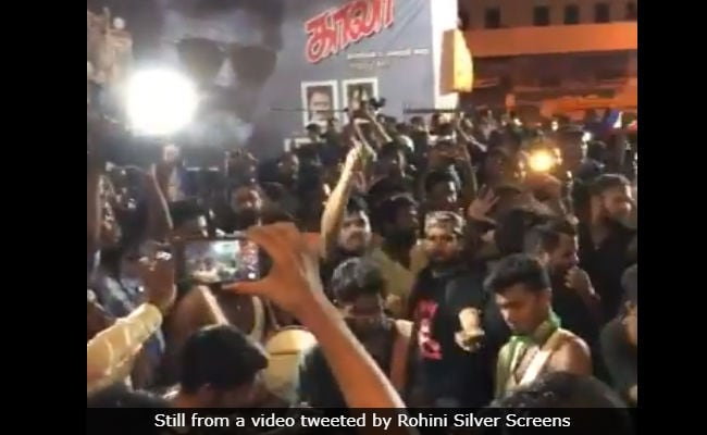 Rajinikanth's Kaala Releases. In Chennai, Fans Cheer, Set Off Fireworks At Crack Of Dawn