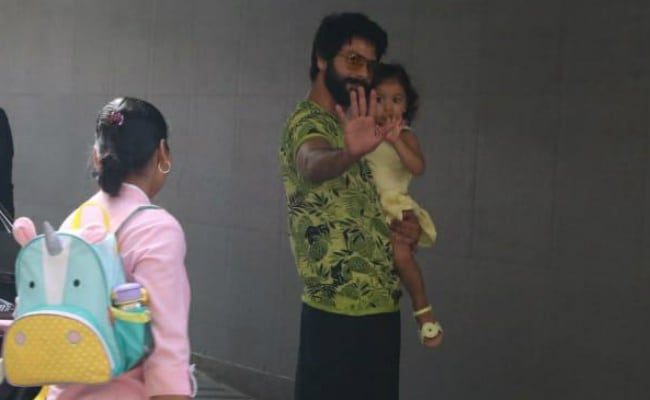 Shahid Kapoor Takes Misha To Meet Baby Brother And Mom Mira Rajput In Hospital