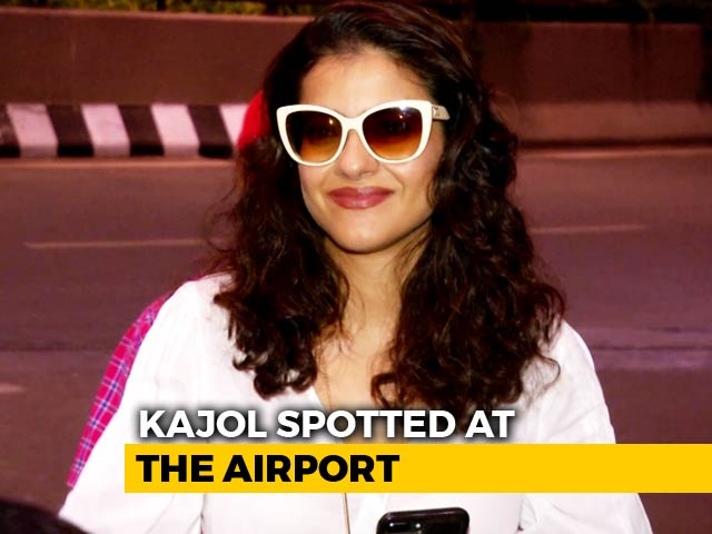 Video : Kajol Leaves For Singapore To Unveil Her Wax Statue