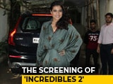 Video: Kajol At The Screening Of <i>Incredibles 2</i>