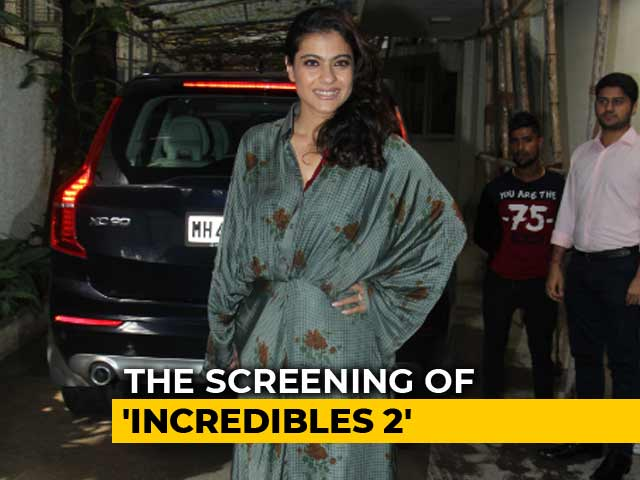 Kajol At The Screening Of <i>Incredibles 2</i>