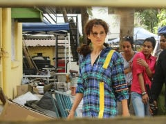 On The Sets Of <i>Mental Hai Kya</i>: Kangana Ranaut Looks Thrice As Nice