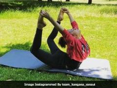 International Yoga Day: Kangana Ranaut Performs Yoga In London. See Pics