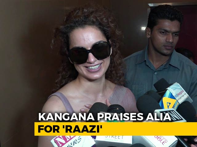 Video : Kangana Ranaut Calls Alia Bhatt 'Undisputed Queen Of Bollywood'