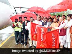 Yogi Adityanath Launches SpiceJet Flight Service Between Kanpur And Delhi