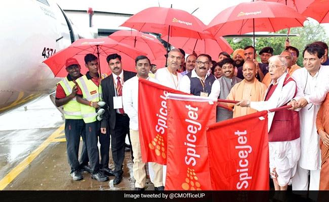 Yogi Adityanath Launches SpiceJet Flight Service Between Kanpur And Delhi