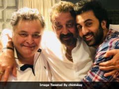 Ranbir Kapoor And Sanjay Dutt Met Rishi Kapoor. Yes, Alia Bhatt Was Also There