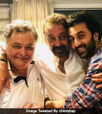 Ranbir And Sanjay Dutt Met Rishi Kapoor. Yes, Alia Bhatt Was Also There