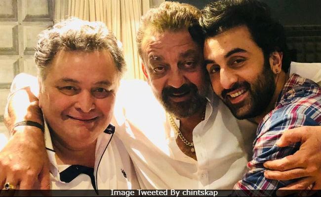 Reel Sanju - Ranbir Kapoor - And Real Sanjay Dutt Met Rishi Kapoor. Yes, Alia Bhatt Was Also There