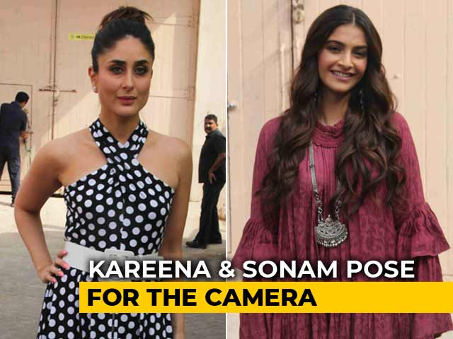 Video : Kareena & Sonam Pose For The Cameras Ahead Of <i>Veere Di Wedding</i> Release