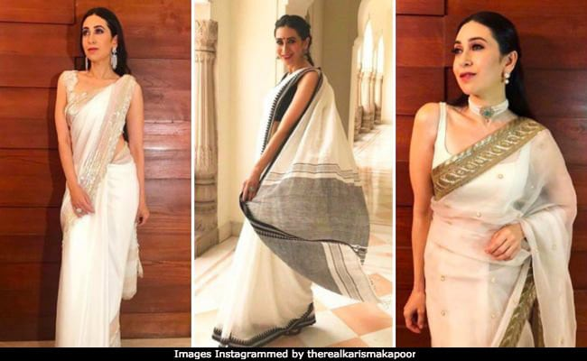 Karisma Kapoor Is Making Us Fall In Love With White <i>Sarees</i>