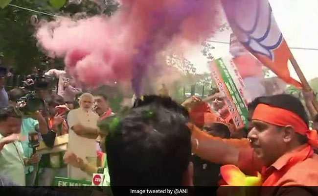 Flowers, Feast and Festivities For BJP As It Wins Karnataka