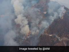 Air Force Choppers With Buckets Help Control Fire In Katra, Yatra Resumes