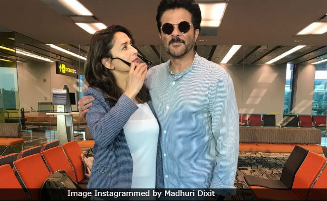 ca0d6720da1 Madhuri Dixit Bumped Into Anil Kapoor At The Airport And It Was A  Jhakaas  Moment
