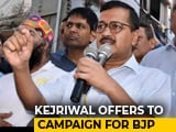 "Video : ""Will Campaign For BJP If..."": Arvind Kejriwal's Incredible Promise"