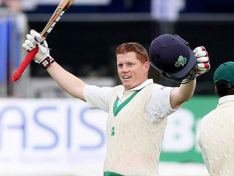 Kevin O'Brien slams Ireland's 1st Test hundred