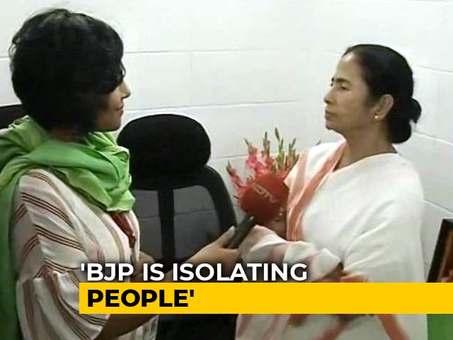 Video : What BJP Is Doing Will Create Bloodbath, We Want Peace: Mamata Banerjee