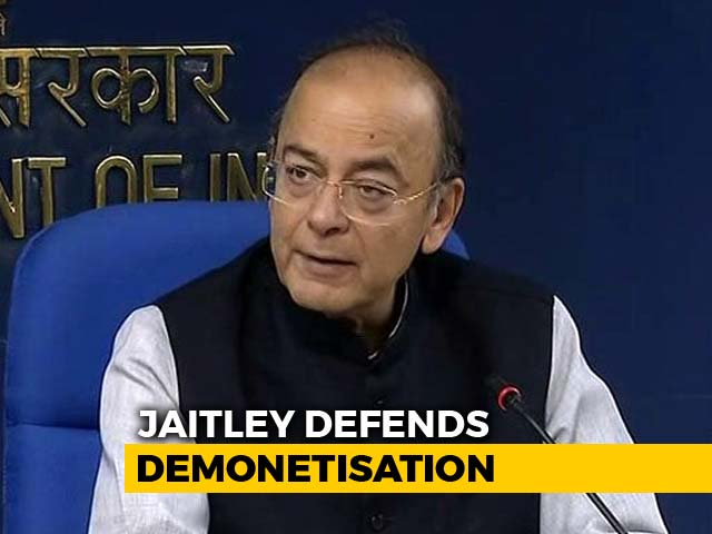"Video : ""Notes Ban Led To More Tax Collection, Economic Growth"": Arun Jaitley"