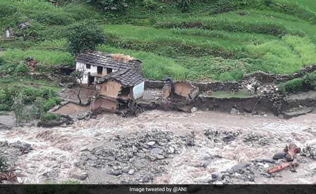 Houses, Shops Swept Away After Cloud Burst In Uttarakhand's Chamoli