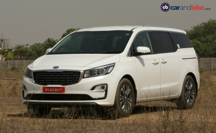 Kia is considering the Carnival for India, as one of the first few models